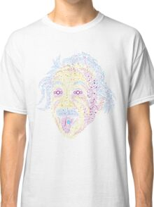 Acid Scientist tongue out psychedelic art poster Classic T-Shirt