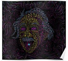 Acid Scientist tongue out psychedelic art poster Poster