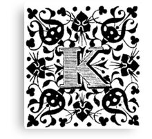 Small Cap Letter K Canvas Print