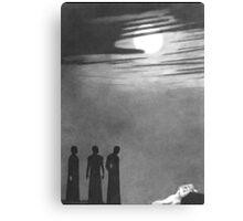 A Hand Across the Moon Canvas Print