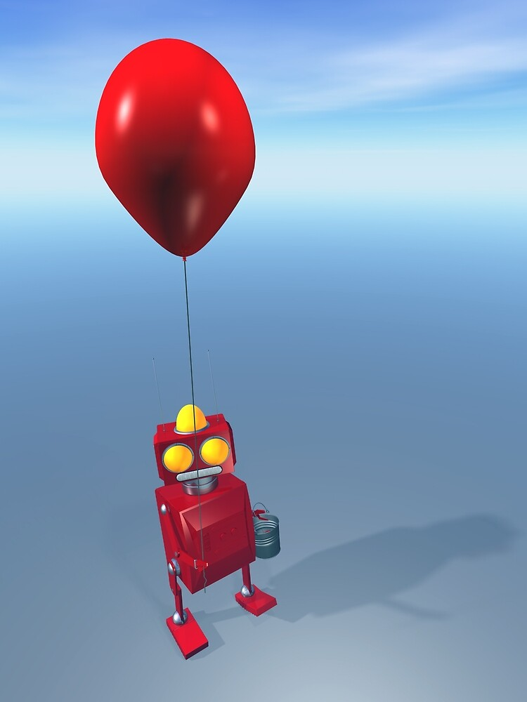 Happy Birthday Little Red Robot by mdkgraphics