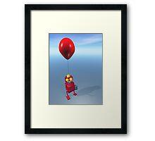 Happy Birthday Little Red Robot Framed Print