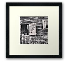 Swinging on the Barn Door Framed Print