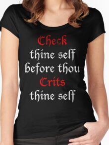 Check Thine Self Women's Fitted Scoop T-Shirt