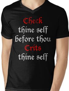 Check Thine Self Mens V-Neck T-Shirt