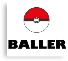 Pokemon baller Canvas Print
