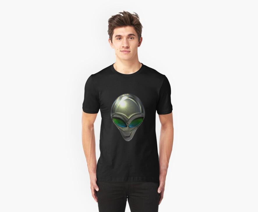 Metal Alien Head 02 by mdkgraphics