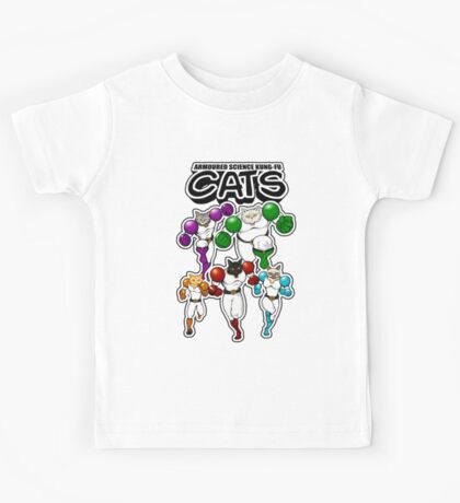 Armoured Science Kung-Fu Cats Kids Tee