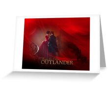 Jamie & Claire on staircase/Dragonfly in Amber Greeting Card