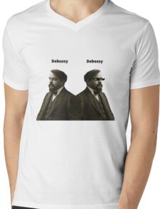 Debussy Mens V-Neck T-Shirt