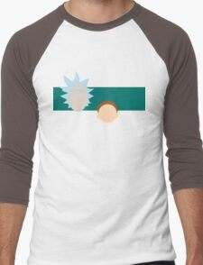 A dimension-travelling scientist and his Morty (minimalist) Men's Baseball ¾ T-Shirt