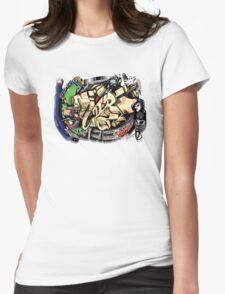Super Sonic Hip Hop ball  Womens Fitted T-Shirt