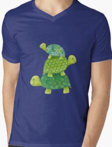 Turtle Stack Mens V-Neck T-Shirt