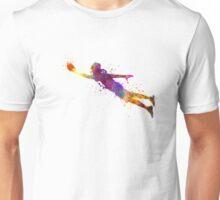 american football player scoring touchdown Unisex T-Shirt