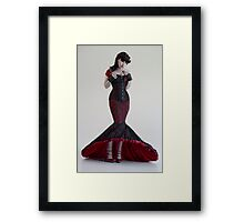 Lace fishtail Framed Print
