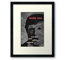 Trump Vision 2016. Framed Print