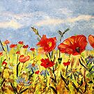 *With Love on Your 55th (Wildflowers in Acrylics)* by Darlene Lankford Honeycutt