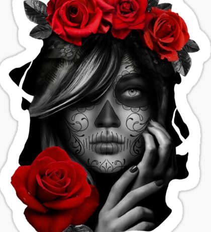 Day Of The Dead Woman Sticker