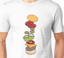 cheeseburger exploded Unisex T-Shirt