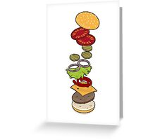 cheeseburger exploded Greeting Card