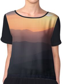 Sunset in mountains - Freedom! Chiffon Top