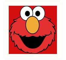 Elmo Head Smile Art Print