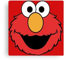 Elmo Head Smile Canvas Print