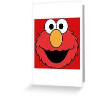 Elmo Head Smile Greeting Card