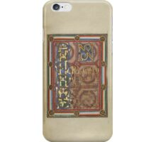 Decorated Incipit Page - Opening of Saint John's Gospel (1120 - 1140 AD) iPhone Case/Skin