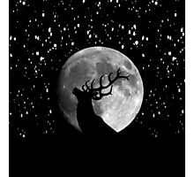 Oh Deer Moon Photographic Print