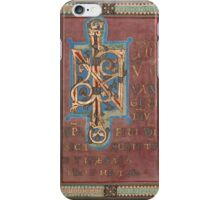 Decorated Incipit Page - Beginning of Mark's Gospel (1120 - 1140 AD) iPhone Case/Skin