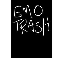 Emo Trash (White) Photographic Print