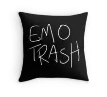 Emo Trash (White) Throw Pillow