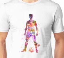 soccer football player young man standing defiance Unisex T-Shirt