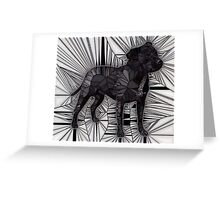 Staffordshire Bull Terrier Mosaic Greeting Card