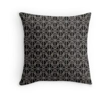 Deathly Hallows Pattern  Throw Pillow