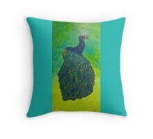 Peacock Skin Throw Pillow