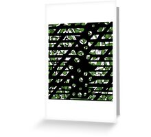 Green abstraction Greeting Card