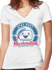 Marshmallows Women's Fitted V-Neck T-Shirt