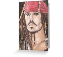Captain Jack Sparrow Greeting Card