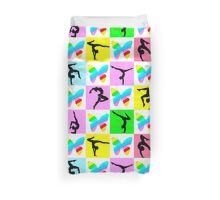 COLORFUL BUTTERFLY GYMNASTICS DESIGN Duvet Cover