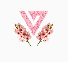 Seventeen with Pink Texture - Orchid and Flower - Seventeen Kpop Logo Unisex T-Shirt