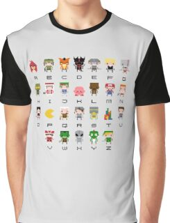 Video Games Alphabet Graphic T-Shirt