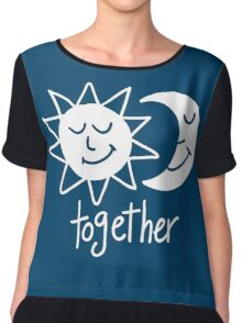 Together cute sun and moon Chiffon Top