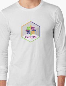 centos linux hexagonal hexagon Long Sleeve T-Shirt