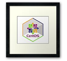 centos linux hexagonal hexagon Framed Print
