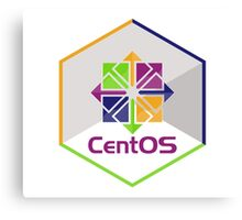 centos linux hexagonal hexagon Canvas Print