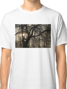 Intricate Lacy Curtains - Sunrise Glow Through the Willows  Classic T-Shirt