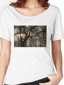 Intricate Lacy Curtains - Sunrise Glow Through the Willows  Women's Relaxed Fit T-Shirt