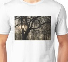 Intricate Lacy Curtains - Sunrise Glow Through the Willows  Unisex T-Shirt